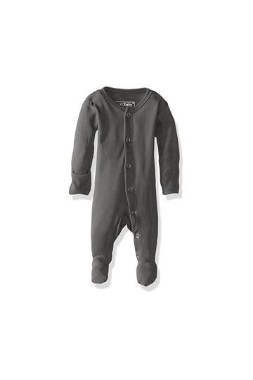 Eden Gray Organic Footed Overall by L'ovedbaby
