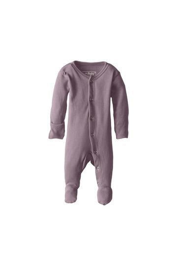 Melody Lavender Organic Footed Overall by L'ovedbaby