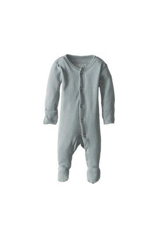 Blaine Seafoam Organic Footed Overall by L'ovedbaby