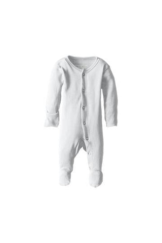 Misty White Organic Footed Overall by L'ovedbaby