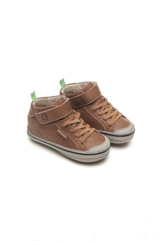 Alley Whiskey/Pumice Leather High Top Shoes