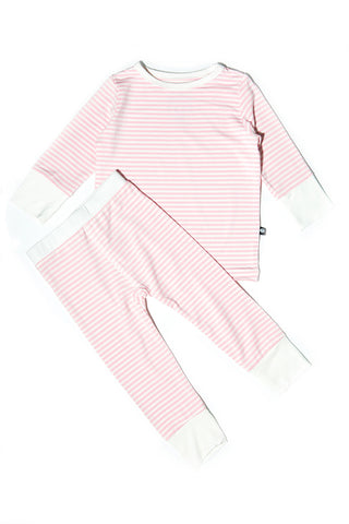 Bailey Big Kid PJs Perfect Pink Mini Stripe by Sweet Bamboo