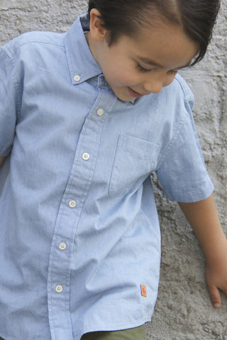 Bradley Chambray Short Sleeve Collar Shirt