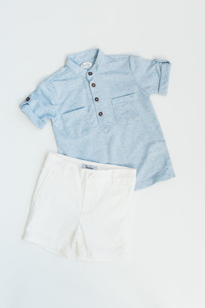 Carter White Chino Shorts