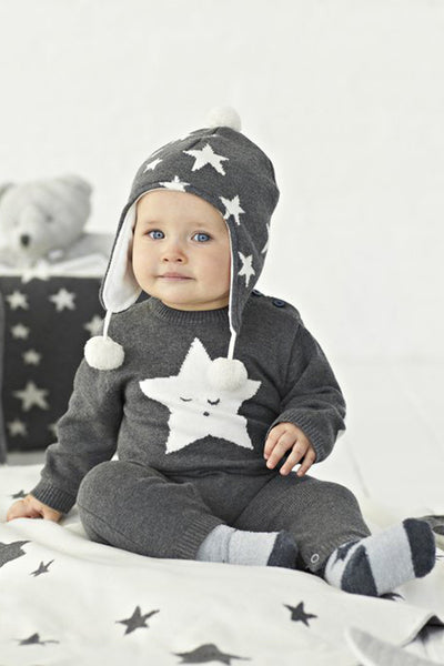 Casey Grey Star Jumpsuit by Elegant Baby