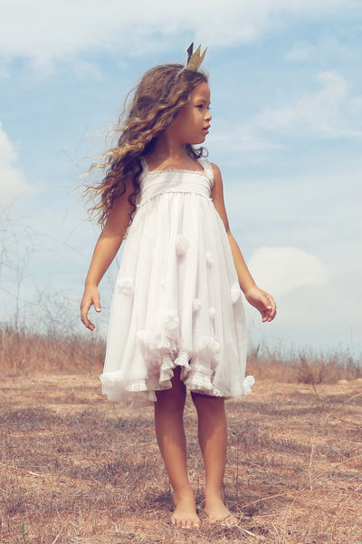 Cloudine Butterfly Dress Snow by Luna Luna