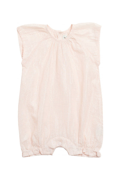 Constance Pale Dogwood Rose Romper by MINI A TURE