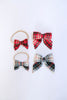 Joy Plaid Mini Sailor Bow Headband by Apricot in Orange