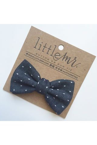 Daniel Midnight Polka Dot Baby & Toddler Bow Tie by Little Mister
