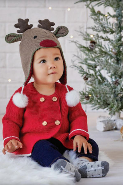 Sofia and Finn Knit Cardigan | Christmas Holiday by Elegant Baby