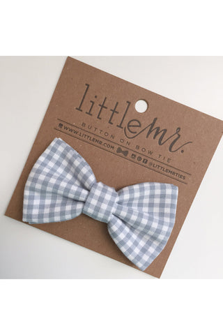 Elijah Gray Gingham Baby & Toddler Bow Tie by Little Mister