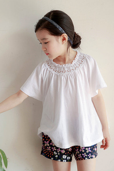 Ellen Lace Collar T-Shirt