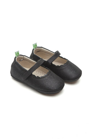 Anjie Roundy Black Galaxy/Patent Black Shoes