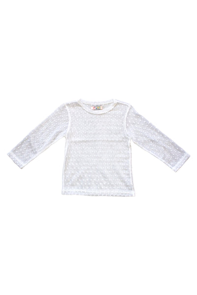 Essie Dot Mesh Shirt in White by Paush