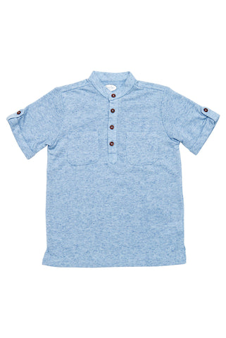 Grayson Light Blue Henley