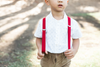 Evan Red Suspenders