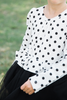 Lucy Long Sleeve Polka Dot Tulle Dress