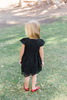 Mia Short Sleeve Lace Dress Black
