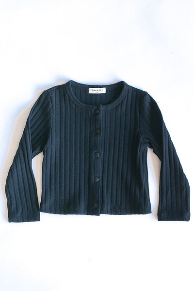 Elise Navy Simple Cardigan