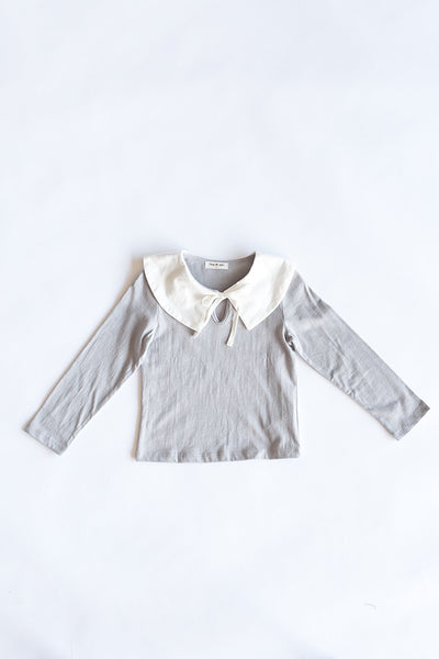 Anna Ribbon T-Shirt Pan Collar