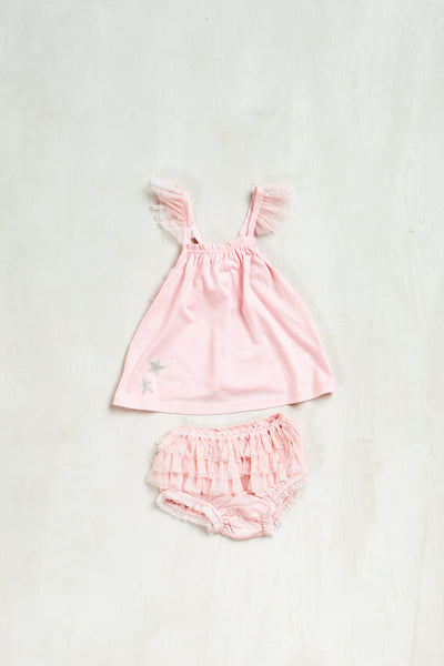 Sierra Two-Piece Butterfly Top and Bloomer Set by Luna Luna