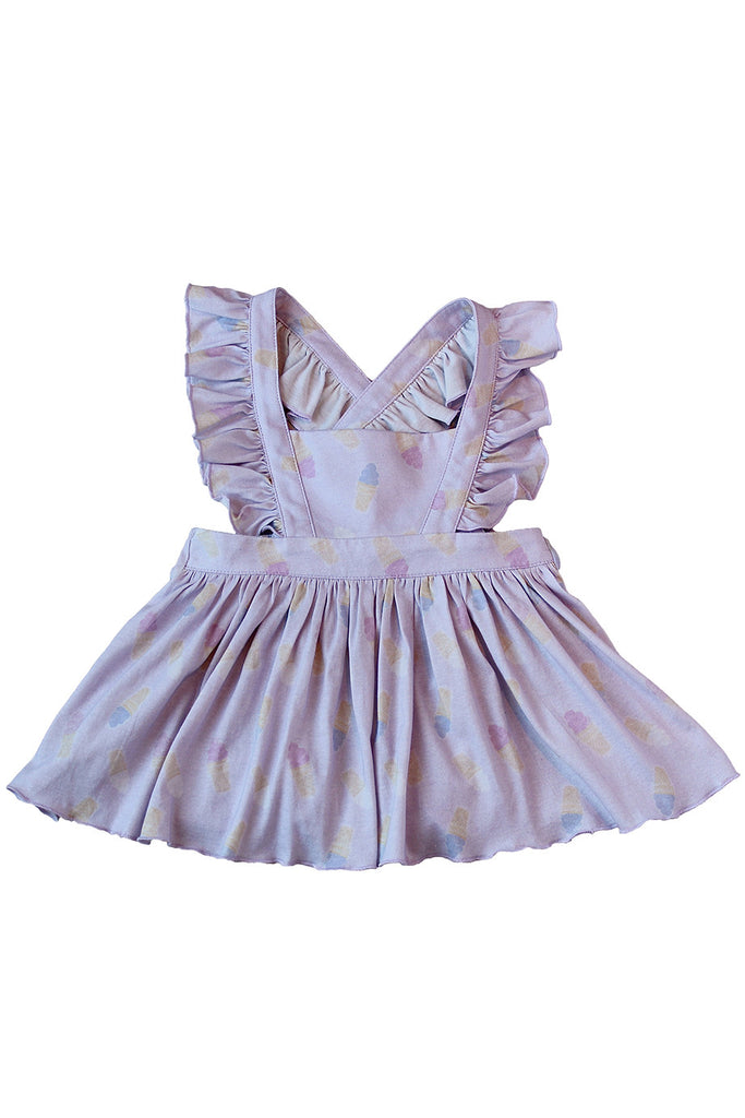 Kendall  Ice Cream Pinafore in Lilac by Paush