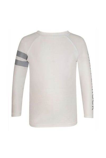 Isaiah White Arm Band Rash Top