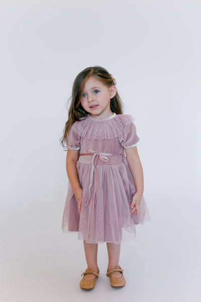 Amber Baby Doll Dress in Muave