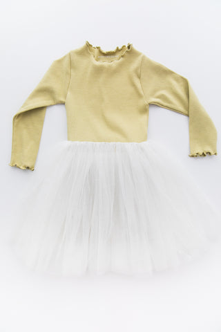 Sasha Yellow Tulle Tutu Dress