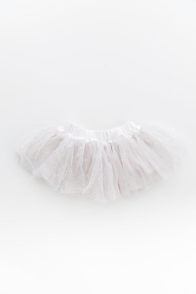 Connie Baby Tutu White Sparkle Skirt