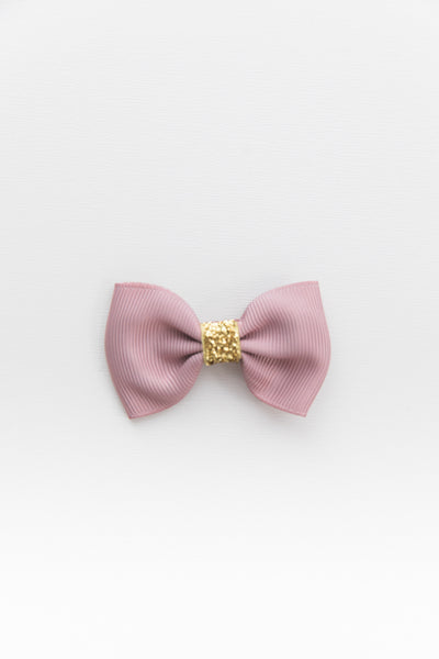Nora Rose with Gold Glitter Bowtie Bow by Milledeux