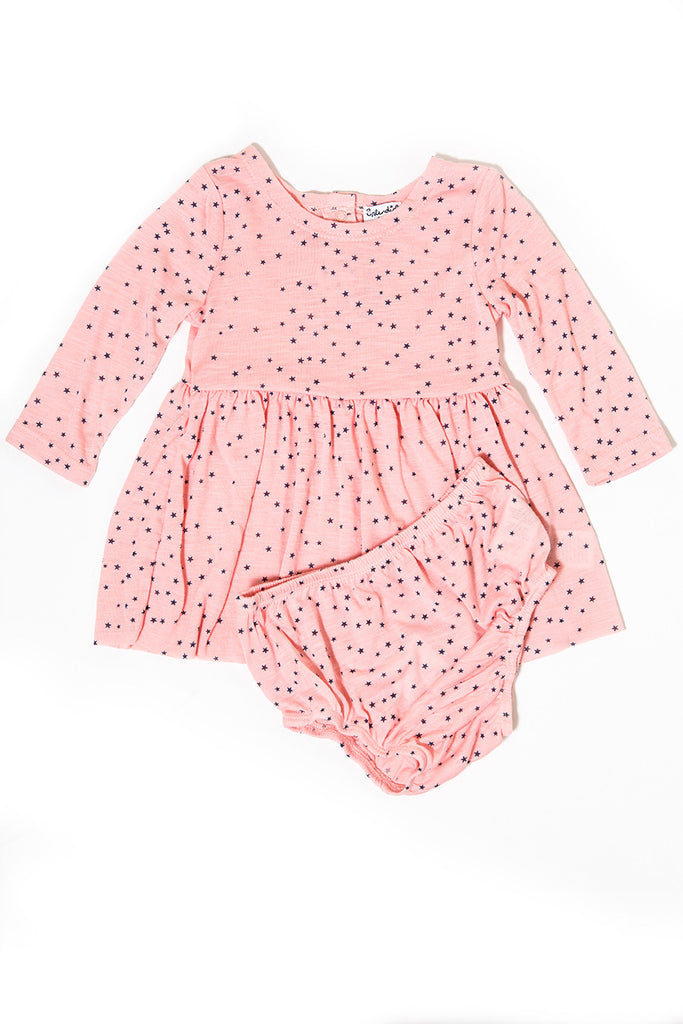 Amelie Two-Piece Star-Print Dress & Bloomers Set by Splendid