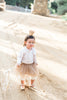 Bella Mocha Tulle Tutu Skirt With Gold Glitter Hearts