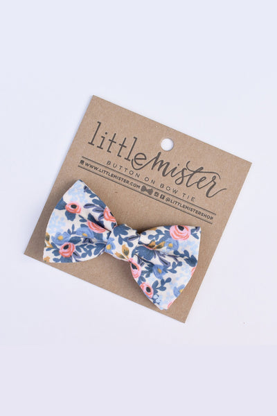 Jacob White Roses Baby & Toddler Bow Tie by Little Mister