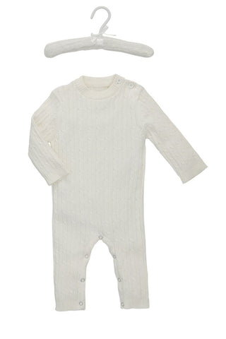 Jaime Cream Cable Jumpsuit by Elegant Baby