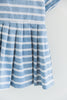Chloe Blue Striped Dress & Bow Detail