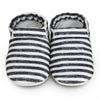 Jordan Black & White Striped Booties by Clamfeet