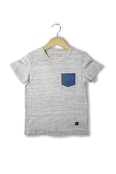 Justin Gray Shirt w/ Blue Pocket