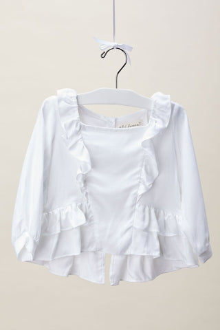 Ashley White Rose Blouse