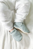 Landon Gray Linen Booties by Clamfeet