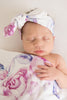 Elsa Lilac Skies I Baby Jersey Wrap & Topknot Set by Snuggle Hunny Kids