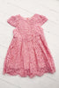Mia Short Sleeve Lace Dress Pink