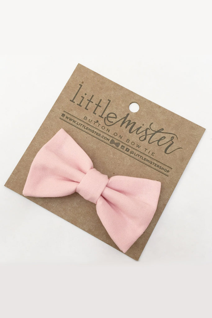 Michael Blush Pink Baby & Toddler Bow Tie by Little Mister