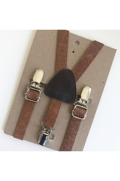 Nigel Baby & Toddler Leather Suspenders by Little Mister