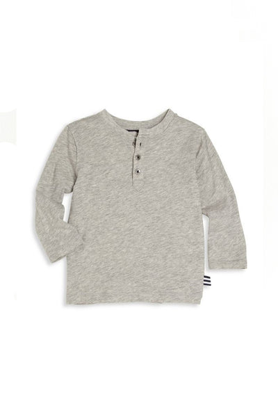 Austin Grey Long Sleeve Henley Shirt by Splendid