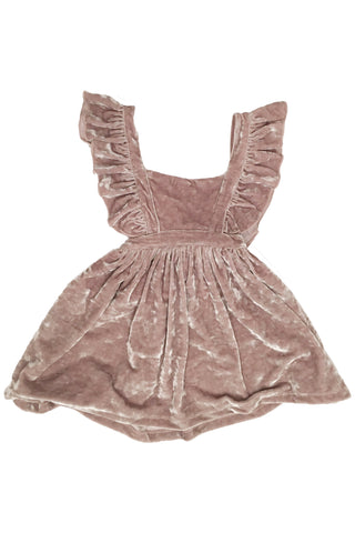 Pauline Velvet Pinafore Dress in Muave by Paush