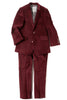Joseph Mod Suit in Tibetan Red Velvet by Appaman