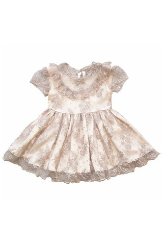 Rosalyn Lace Baby Doll Dress in Mauve by Paush