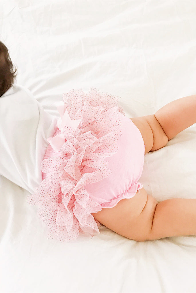 Savannah Baby Bubble Gum Pink Ruffle Bloomer