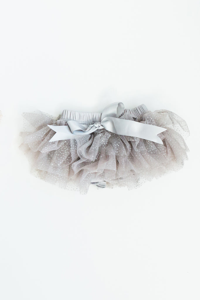 Savannah Baby Tutu / Bloomer Grey Sparkle